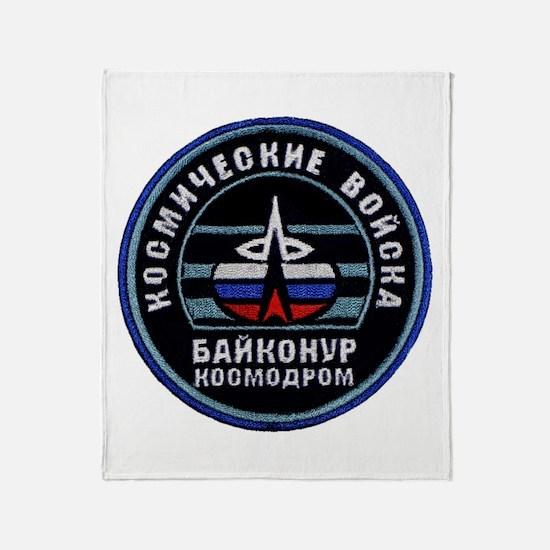 Baikonur Cosmodrome Throw Blanket