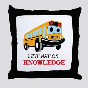 DESTINATION KNOWLEDGE Throw Pillow