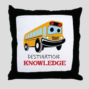 DESTINATION KNOWLEDGE Throw Pillow
