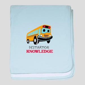 DESTINATION KNOWLEDGE baby blanket