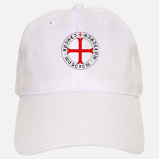 Knights Templar 12th Century Seal - Holy Grail Baseball Baseball Cap