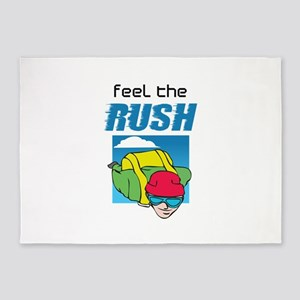 FEEL THE RUSH 5'x7'Area Rug