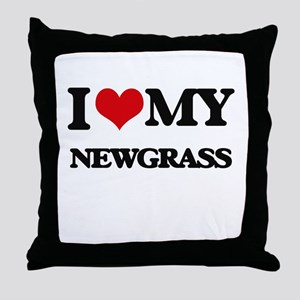 I Love My NEWGRASS Throw Pillow