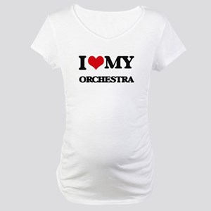 I Love My ORCHESTRA Maternity T-Shirt