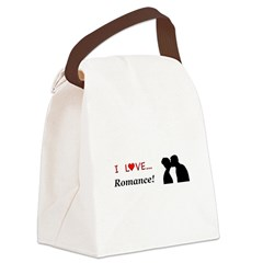 I Love Romance Canvas Lunch Bag