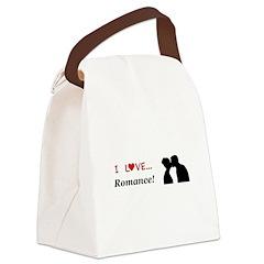 I Love Romance Canvas Lunch Bag