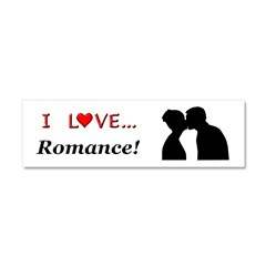 I Love Romance Car Magnet 10 x 3