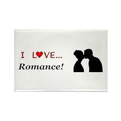 I Love Romance Rectangle Magnet