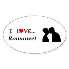 I Love Romance Sticker (Oval)