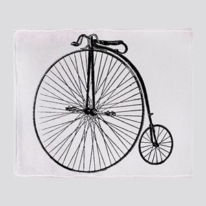 Antique Penny Farthing Bicycle Throw Blanket