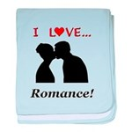 I Love Romance baby blanket