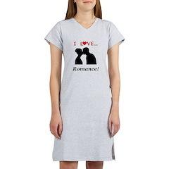 I Love Romance Women's Nightshirt