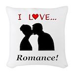 I Love Romance Woven Throw Pillow