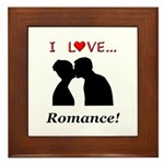 I Love Romance Framed Tile