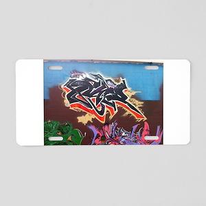 Wildstyle Art Aluminum License Plate