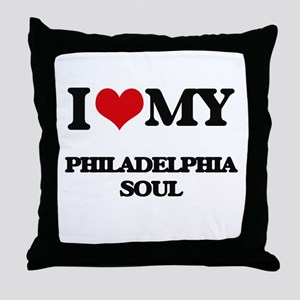 I Love My PHILADELPHIA SOUL Throw Pillow