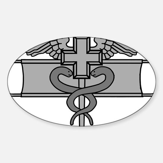 Cute Combat medical badge Sticker (Oval)