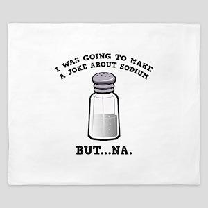 A Joke About Sodium King Duvet
