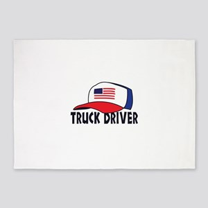 TRUCK DRIVER 5'x7'Area Rug