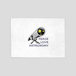 PEACE LOVE ASTRONOMY 5'x7'Area Rug