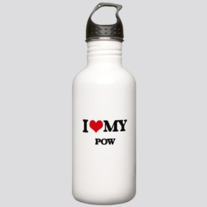 I Love My POW Stainless Water Bottle 1.0L
