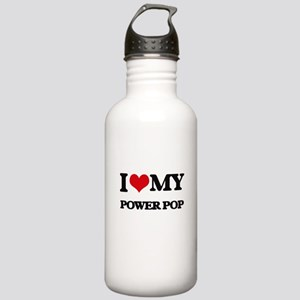 I Love My POWER POP Stainless Water Bottle 1.0L