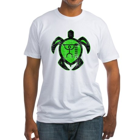 hawaiian turtle paddler Fitted T-Shirt