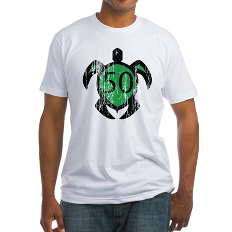 50 hawaiian turtle Fitted T-Shirt