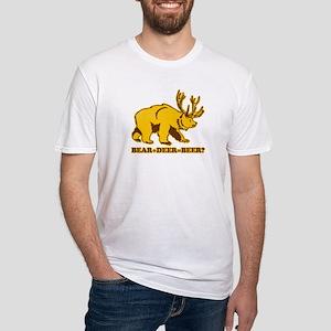 bear + deer = beer ?? Fitted T-Shirt