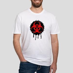 Biohazard Splash Fitted T-Shirt