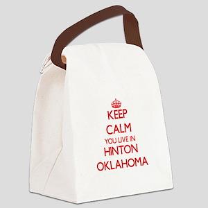 Keep calm you live in Hinton Okla Canvas Lunch Bag
