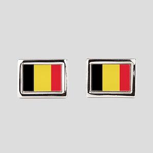 Belgian flag Rectangular Cufflinks