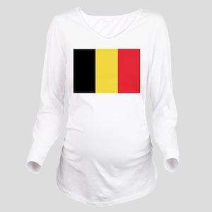 Belgian flag Long Sleeve Maternity T-Shirt