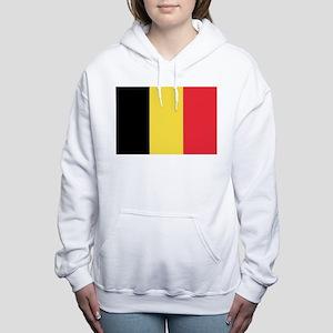Belgian flag Women's Hooded Sweatshirt