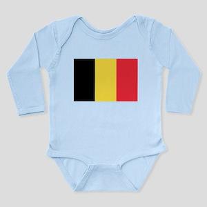 Belgian flag Long Sleeve Infant Bodysuit