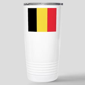 Belgian flag Stainless Steel Travel Mug