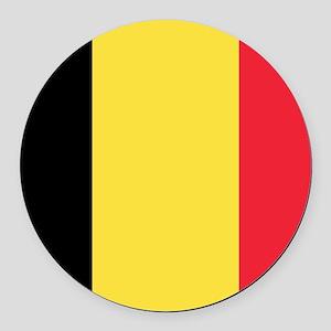 Belgian flag Round Car Magnet