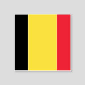 "Belgian flag Square Sticker 3"" x 3"""
