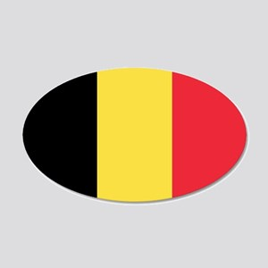 Belgian flag 20x12 Oval Wall Decal