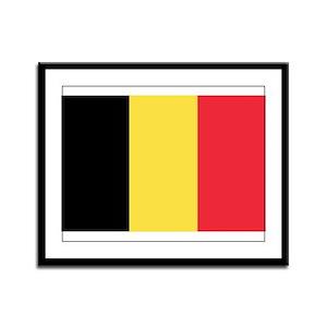 Belgian flag Framed Panel Print
