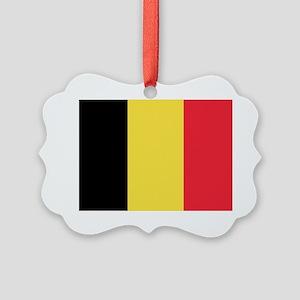 Belgian flag Picture Ornament