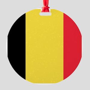 Belgian flag Round Ornament