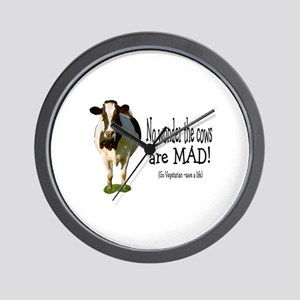no wonder the cows are mad Wall Clock