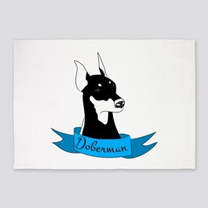 Doberman 5'x7'Area Rug