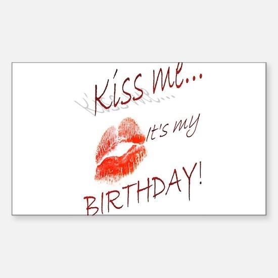 Birthday Kisses Decal