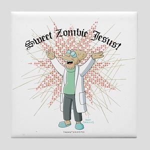 Sweet Zombie Jesus Tile Coaster