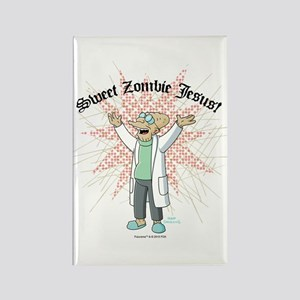 Sweet Zombie Jesus Rectangle Magnet