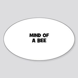 mind of a bee Oval Sticker