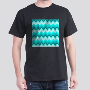 ombre teal turquoise chevron T-Shirt