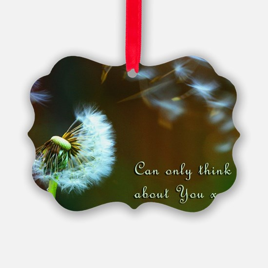 Dandelion 'Thinking About You' Ornament